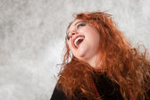 Crazy young woman — Stock Photo
