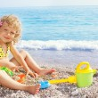 Child on beach — Stock Photo