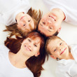 Beautiful family with two children — Stock Photo #4705609