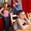 Stock Photo: Parents swear, and child worries