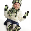 Little girl in knitted hat — Stock Photo