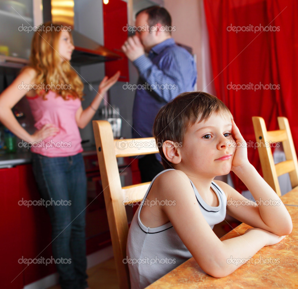 Parents swear, and children suffer  Stock Photo #4705754