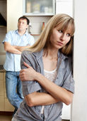 Conflict between man and woman — Stock Photo
