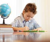 Pojke hus lektioner — Stockfoto
