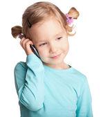Kind mit telefon — Stockfoto