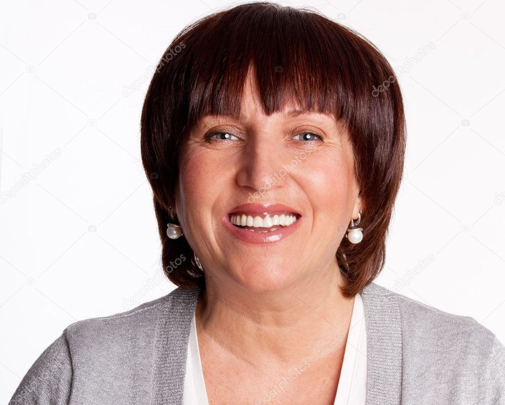 Portrait beautiful happy mature woman — Stock Photo #5163995