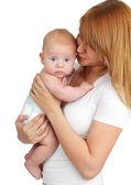 Mutter mit neugeborenen — Stockfoto