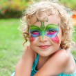 Stock Photo: Beautiful girl with body painting