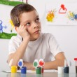 Boy on a drawing class - Stock Photo