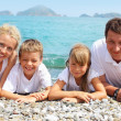 Stock Photo: Family on the beach