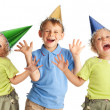Happy children in the cap — Stock Photo #5323942