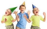 Happy children in the cap — Stock Photo