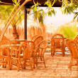 Cafe on  resort — Stock Photo