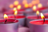 Candles on a blurred background — Stock Photo