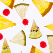 Stock Photo: Set of different fruits slices