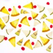 Set of different fruits slices — Stock Photo