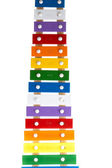 Xylophone in multi colours — Stock Photo