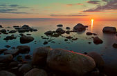 Sunset view over Baltic sea — Stock Photo