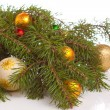Christmas fir with decoration — Stock Photo #4431856