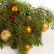 Christmas fir with decoration — 图库照片
