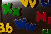 彩色字母 — 图库照片