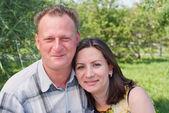 Portrait of happy couples — Stock Photo