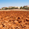 Red soil of Crete — Stock Photo