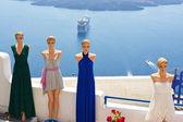 Dress shop. Santorini, Greece — Stock Photo