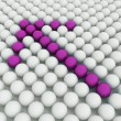 White 3D balls with pink balls — Photo