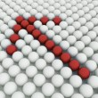 White 3D balls with red balls — Stock Photo