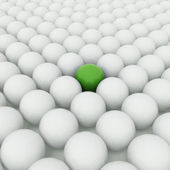 Different green ball — Stock Photo