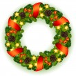 Royalty-Free Stock Vector Image: Christmas wreath