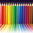 Background with color pencils — Imagen vectorial