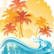 Beach background — Stock Vector