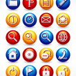 Glossy Web icons — Stockvektor