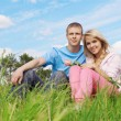 Young couple outdoors — Stock Photo #3946913