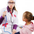 Pediatrician and patient — Photo