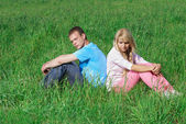 Young couple outdoors — Foto de Stock