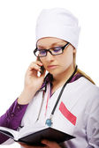 Doctor with cellphone — Stock Photo