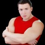 Strong bodybuilder guy — Stock Photo