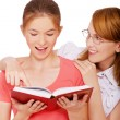 Girl and her tutor — Stock Photo