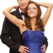 Beautiful young fancy couple — Stock Photo #4016303