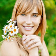 Portrait of charming fair-haired girl - Stock Photo