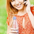 Portrait of charming fair-haired girl — Stock Photo