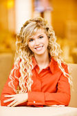 Portrait of fair-haired young woman — Stock Photo