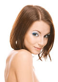 Beautiful woman with bared shoulders — Stock Photo