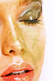 Gesicht der schönen jungen Frau — Stockfoto