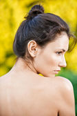 Portrait of woman in profile — Stock Photo