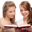 Two young beautiful  women - Stock Photo