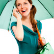 Young woman with umbrella — Stock Photo #4855327